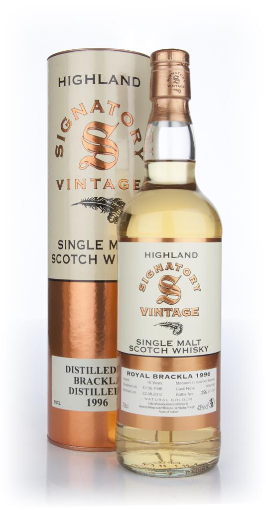 Brackla 16 Year Old 1996 (Signatory) Single Malt Whisky
