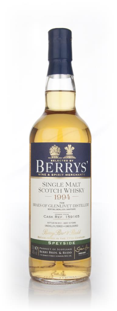 Braes Of Glenlivet 18 Year Old 1994 (Berry Brothers and Rudd) Single Malt Whisky