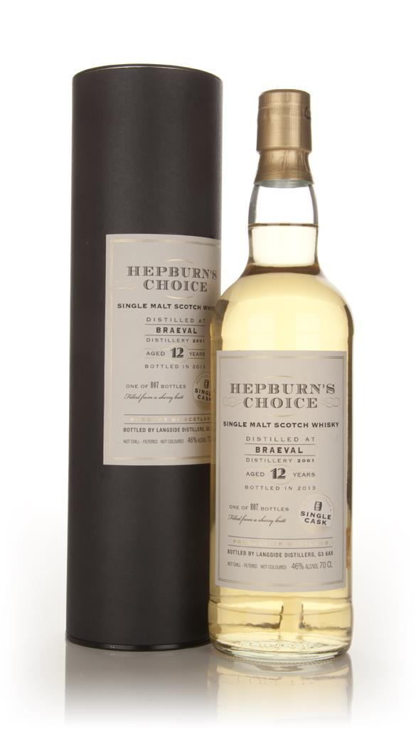 Braeval 12 Year Old 2001 - Hepburns Choice (Langside) Single Malt Whisky