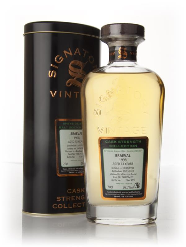 Braeval 13 Year Old 1998 - Cask Strength Collection (Signatory) Single Malt Whisky