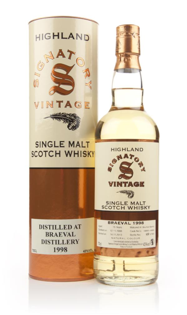 Braeval 15 Year Old 1998 (casks 168899+168900) (Signatory) Single Malt Whisky