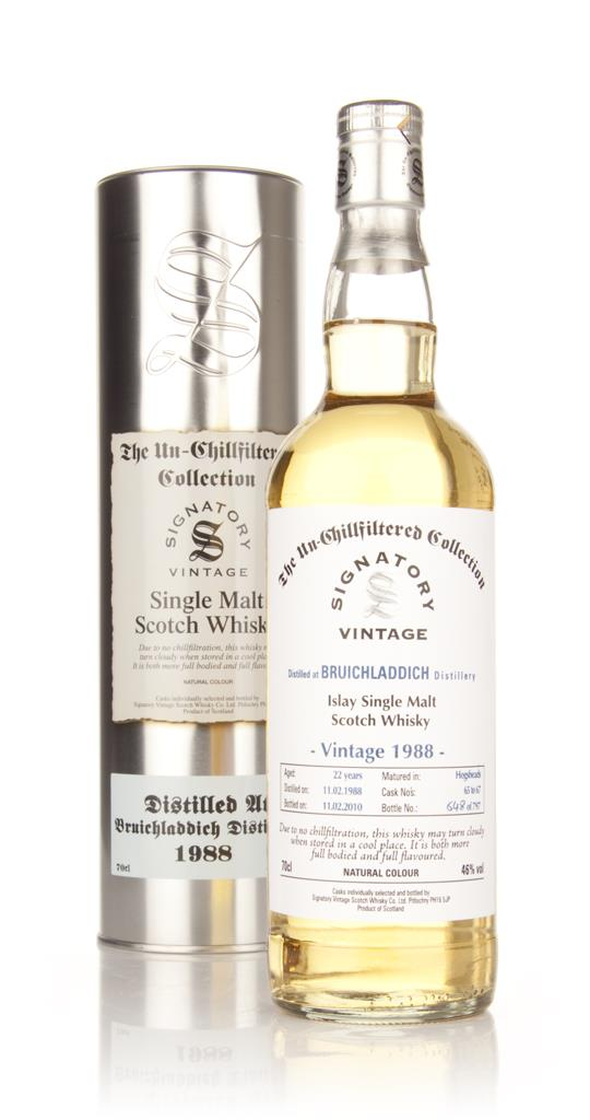 Bruichladdich 22 Year Old 1988 - Un-Chillfiltered (Signatory) Single Malt Whisky