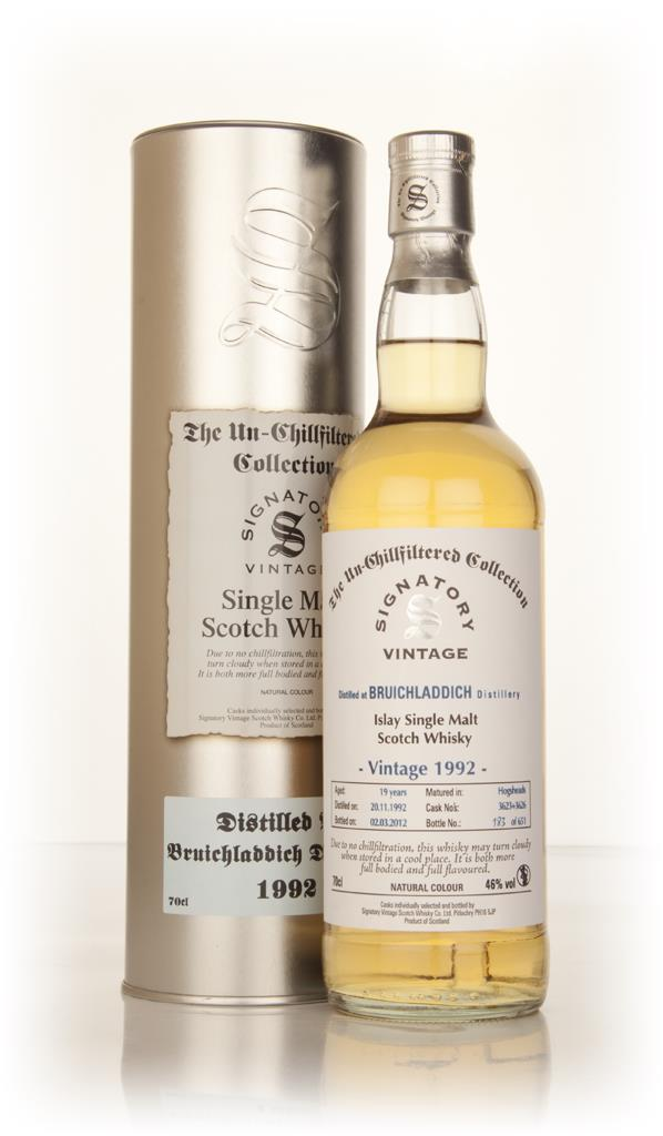 Bruichladdich 19 Year Old 1992 - Un-Chillfiltered (Signatory) Single Malt Whisky