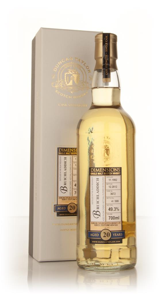Bruichladdich 20 Year Old 1992 (cask 3672) - Dimensions (Duncan Taylor Single Malt Whisky