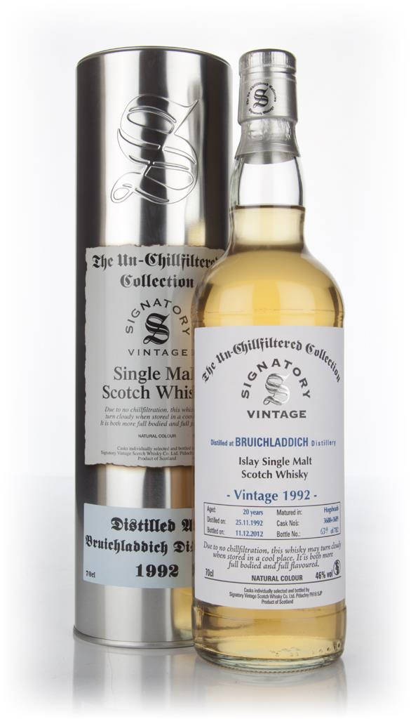 Bruichladdich 20 Year Old 1992  - Un-Chillfiltered (Signatory) Single Malt Whisky