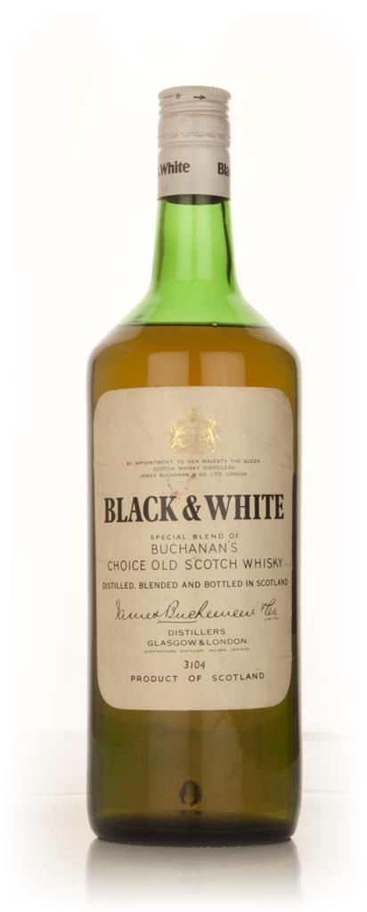 Black & White - 1970s 1l Blended Whisky