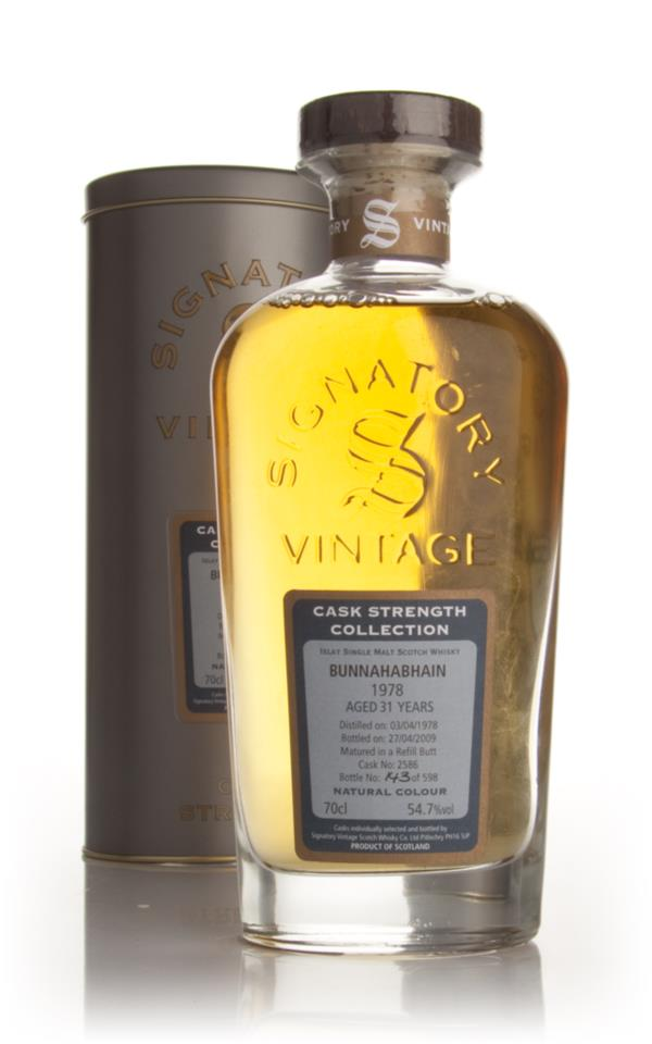 Bunnahabhain 31 Year Old 1978 - Cask Strength Collection (Signatory) Single Malt Whisky