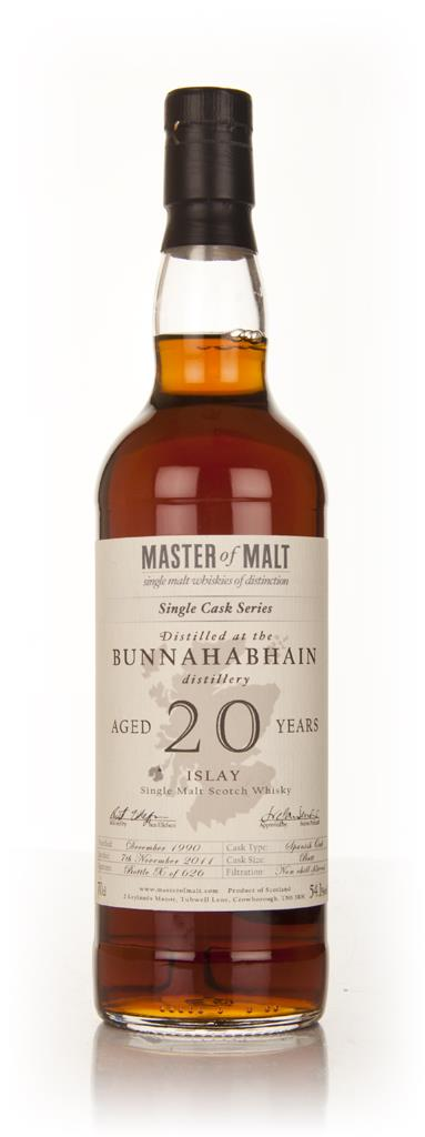 Bunnahabhain 20 Year Old 1990 - Single Cask (Master of Malt) Single Malt Whisky