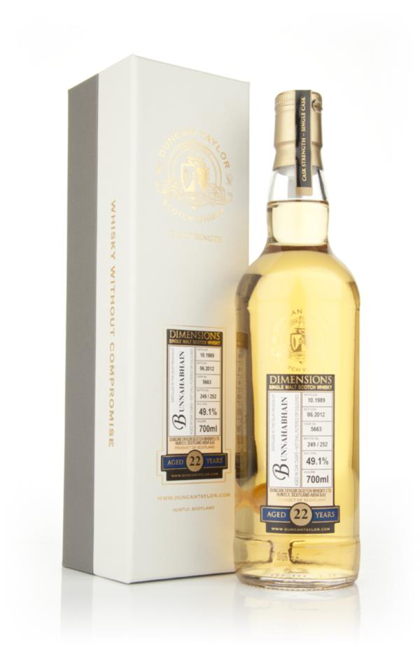 Bunnahabhain 22 Year Old 1989 - Dimensions (Duncan Taylor) Single Malt Whisky