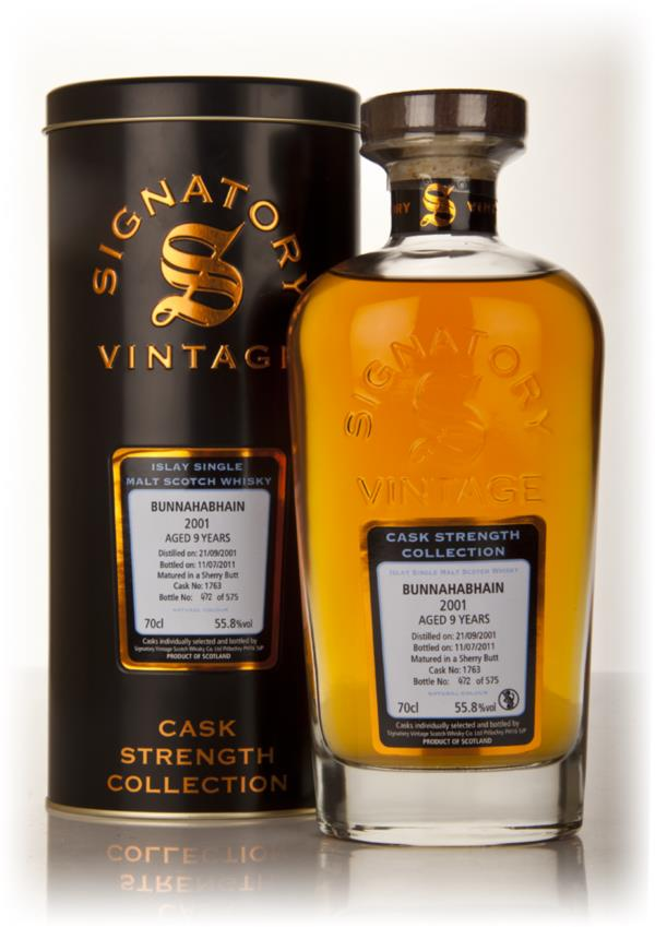 Bunnahabhain 9 Year Old 2001 Cask 1763 - Cask Strength Collection (Sig Single Malt Whisky