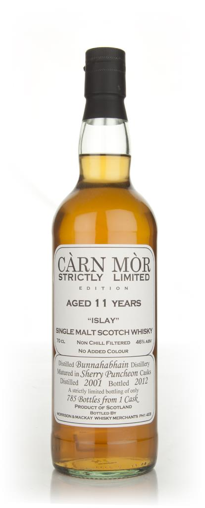 Bunnahabhain 11 Year Old 2001 - Strictly Limited (Carn Mor) Single Malt Whisky