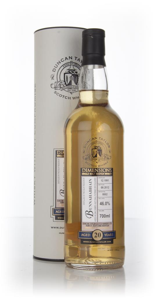 Bunnahabhain 20 Year Old 1991 - Batch 0002 - Dimensions (Duncan Taylor Single Malt Whisky