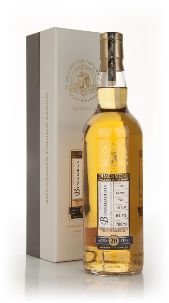 Bunnahabhain 20 Year Old 1991 - Dimensions (Duncan Taylor) Single Malt Whisky