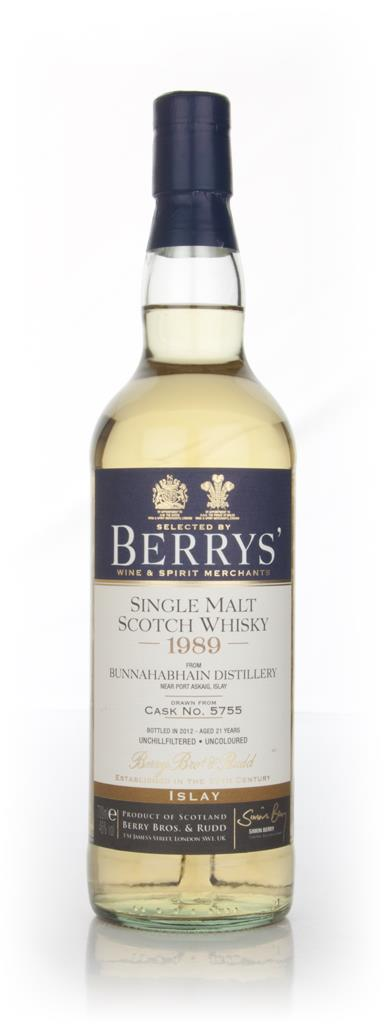 Bunnahabhain 21 Year Old 1989 Cask 5755 (Berry Brothers and Rudd) Single Malt Whisky
