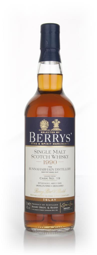 Bunnahabhain 21 Year Old 1990 Cask 19 (Berry Brothers and Rudd) Single Malt Whisky