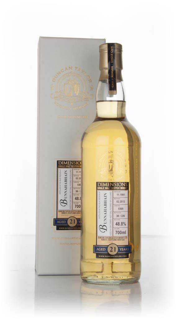 Bunnahabhain 21 Year Old 1991 (cask 5369) - Dimensions (Duncan Taylor) Single Malt Whisky