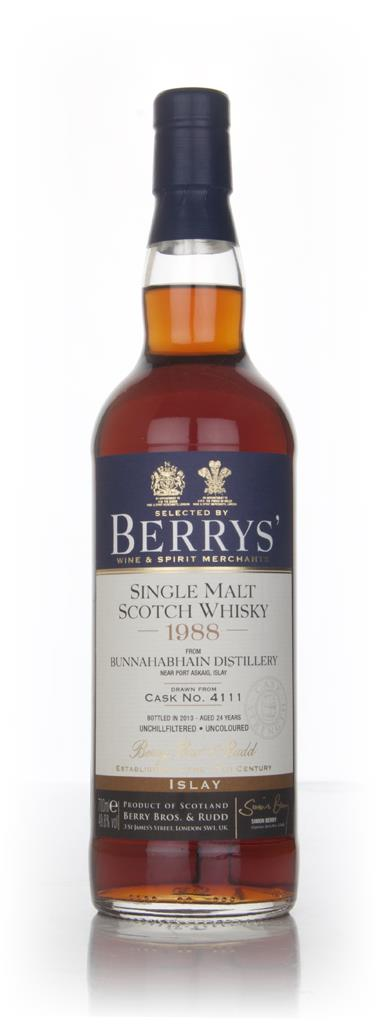 Bunnahabhain 24 Year Old 1988 (cask 4111) (Berry Bros. & Rudd) Single Malt Whisky