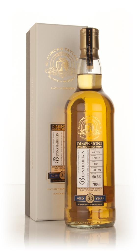 Bunnahabhain 33 Year Old 1979 (cask 4761) - Dimensions (Duncan Taylor) Single Malt Whisky