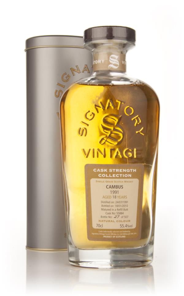 Cambus 18 Year Old 1991 - Cask Strength Collection (Signatory) Single Malt Whisky