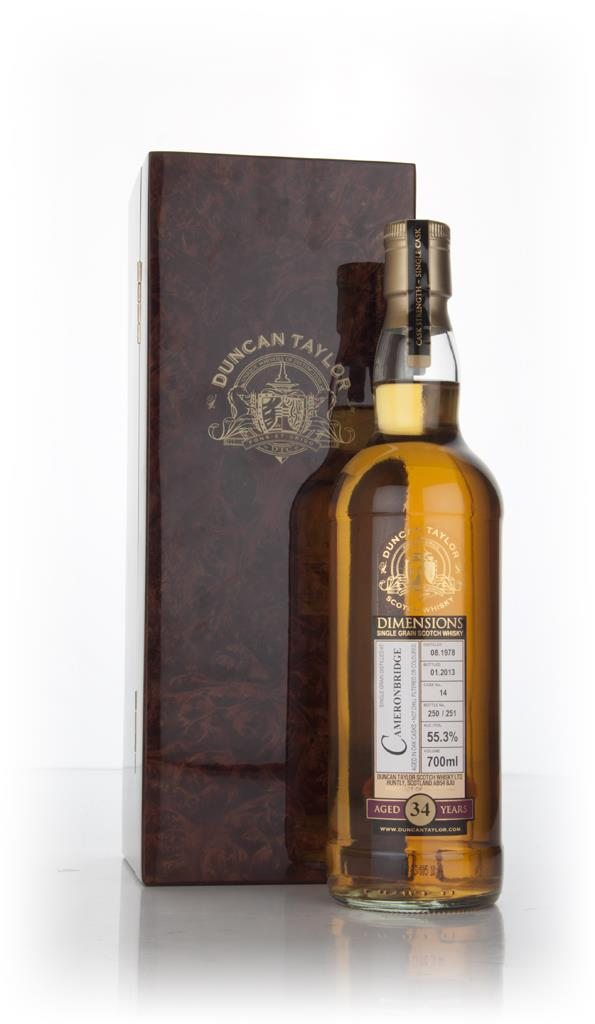 Cameronbridge 34 Year Old 1978 (cask 14) - Dimensions (Duncan Taylor) Grain Whisky