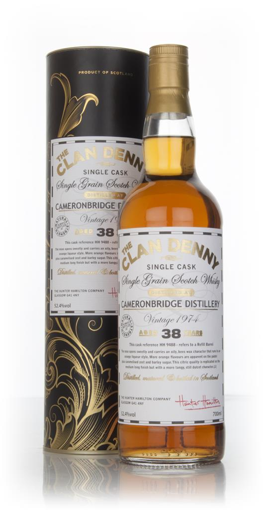 Cameronbridge 38 Year Old 1974 (cask 9488 - The Clan Denny (Douglas La Grain Whisky