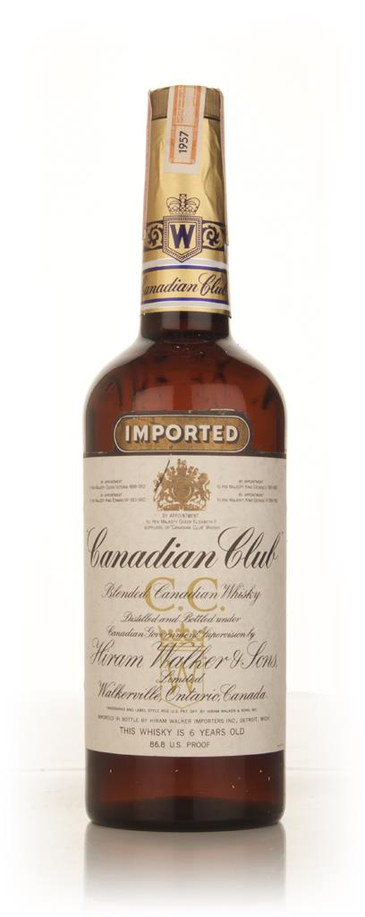 Canadian Club 6 Year Old Whisky -  1957 70cl Blended Whiskey