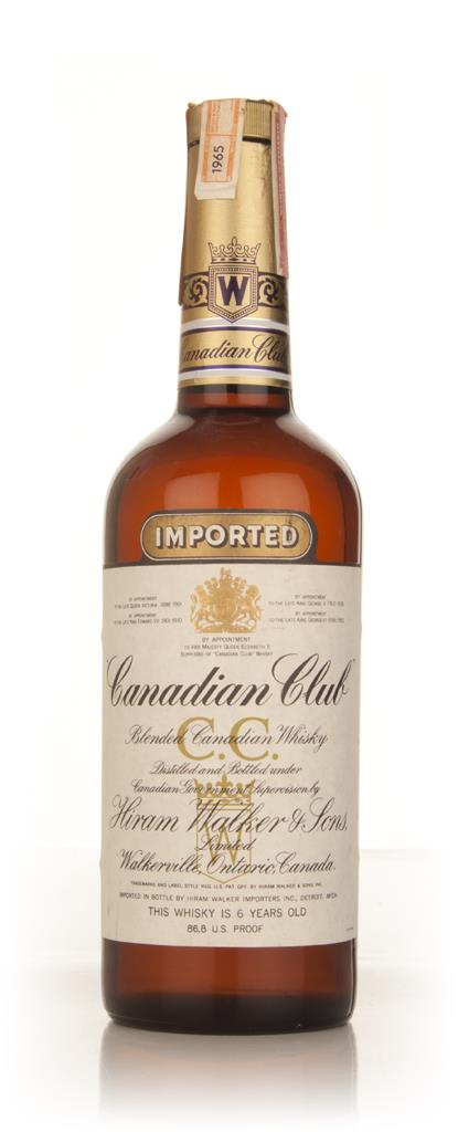 Canadian Club 6 Year Old Whisky - 1965 Blended Whiskey