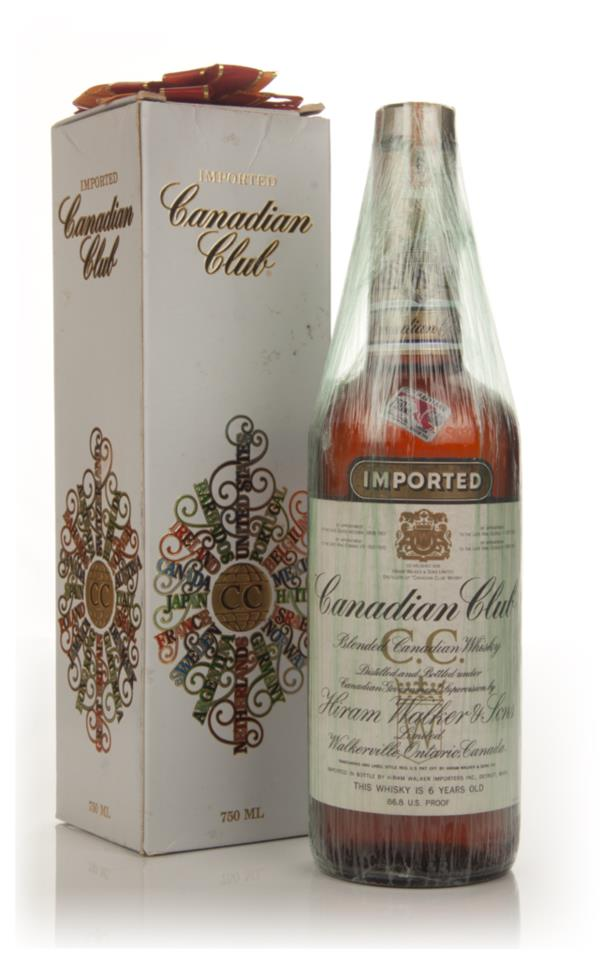 Canadian Club 6 Year Old Whisky - 1974 (Christmas Packaging) Blended Whisky