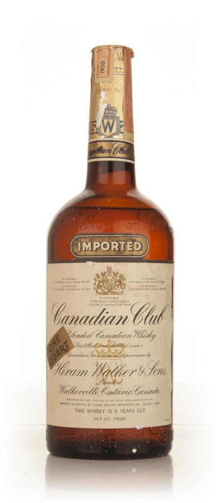 Canadian Club 6 Year Old Whisky - 1950 Blended Whiskey