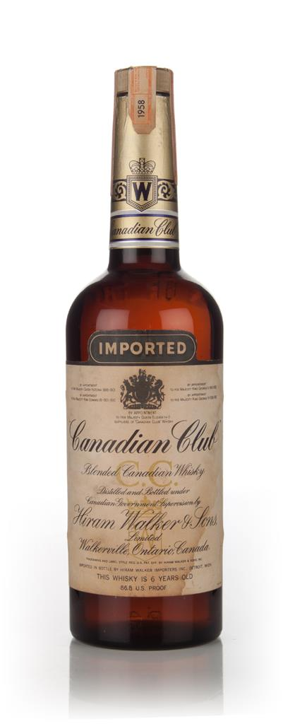 Canadian Club 6 Year Old Whisky - 1958 Blended Whisky