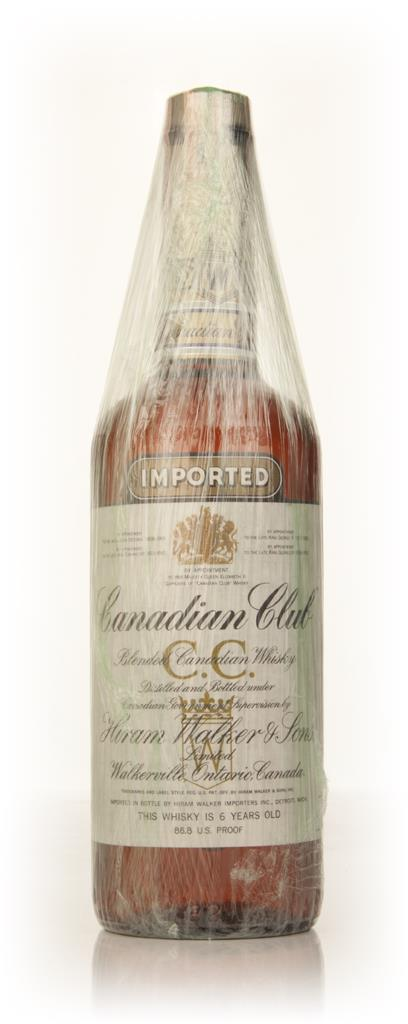 Canadian Club 6 Year Old Whisky - 1971 Blended Whisky