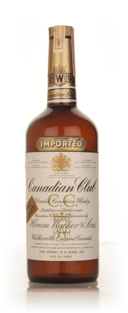 Canadian Club 6 Year Old Whisky 1l - 1967 Blended Whisky