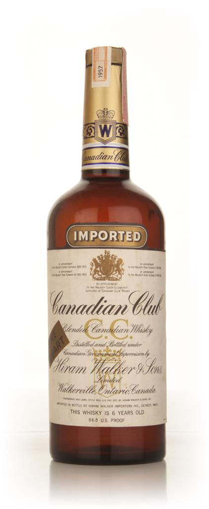 Canadian Club 6 Year Old Whisky 1l - 1957 Blended Whisky
