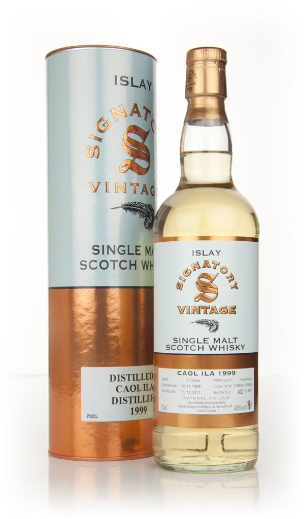 Caol Ila 12 Year Old 1999 (Signatory) Single Malt Whisky