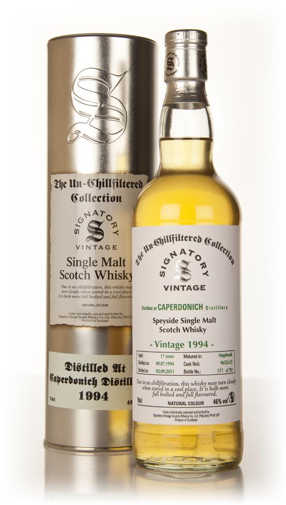 Caperdonich 17 Year Old 1994 - Un-Chillfiltered (Signatory) Single Malt Whisky