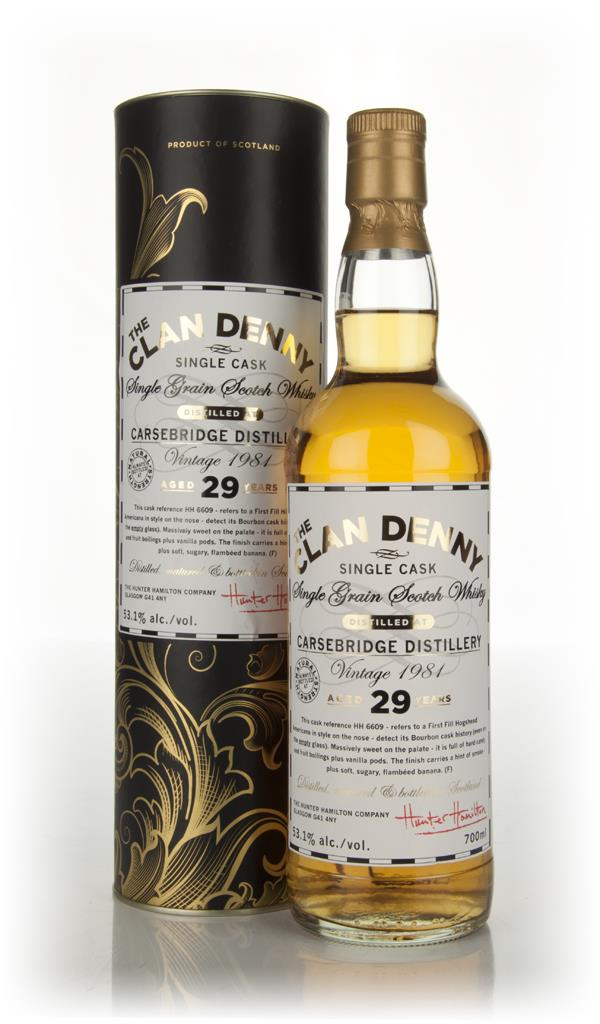 Carsebridge 29 Year Old 1981 - The Clan Denny (Douglas Laing) Single Malt Whisky