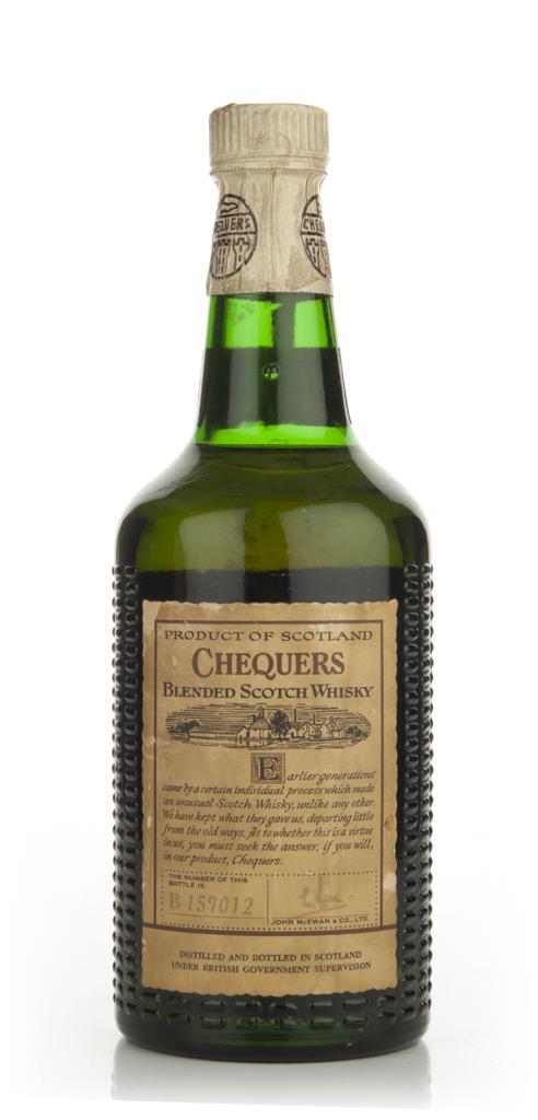 Chequers Blended Whisky - 1960s Blended Whisky