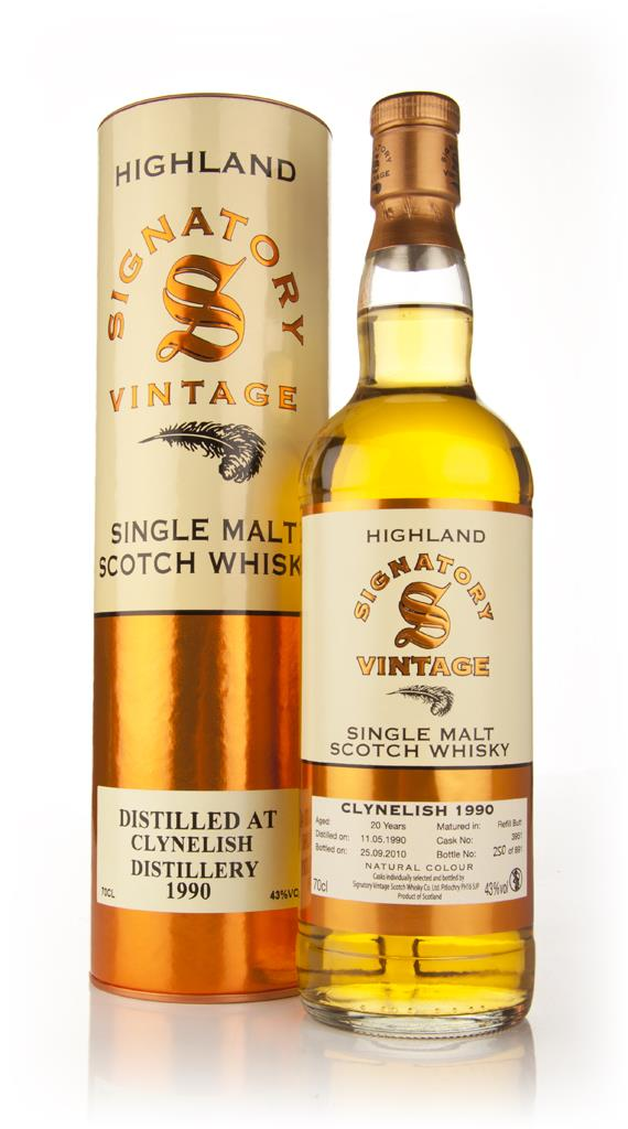Clynelish 20 Year Old 1990 (Signatory) Single Malt Whisky