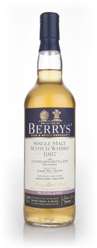 Clynelish 15 Year Old 1997 Cask 6470 (Berry Brothers and Rudd) Single Malt Whisky