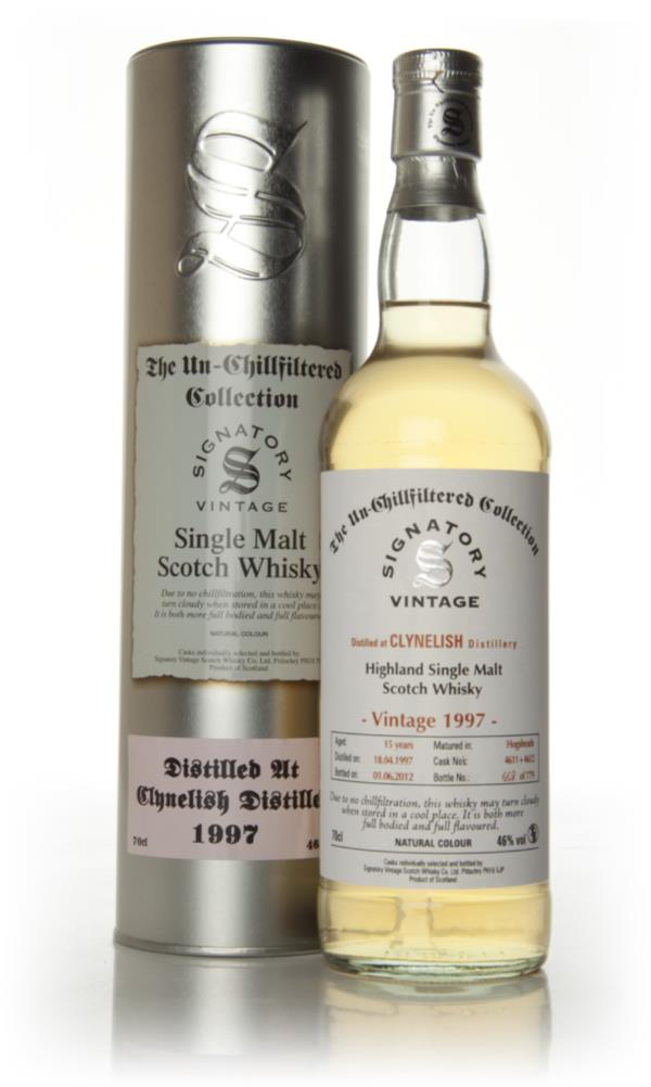 Clynelish 15 Year Old 1997 - Un-Chillfiltered (Signatory) Single Malt Whisky