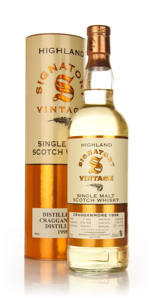Cragganmore 13 Year Old 1998 (Signatory) Single Malt Whisky