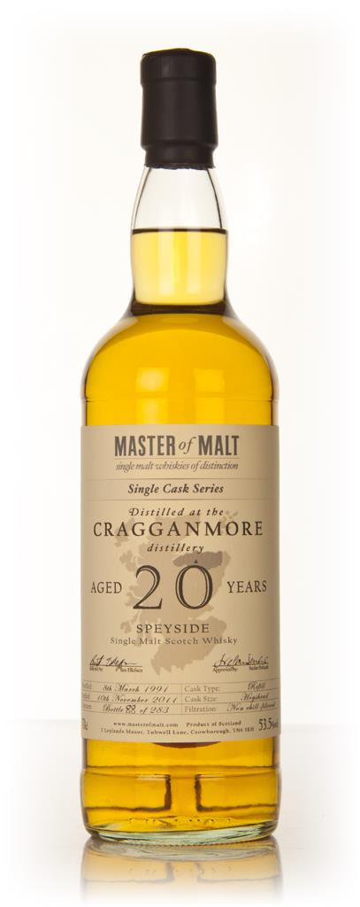 Cragganmore 20 Year Old 1991 Cask 1146 - Single Cask (Master of Malt) Single Malt Whisky