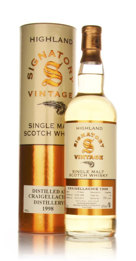 Craigellachie 12 Year Old 1998 (Signatory) Single Malt Whisky