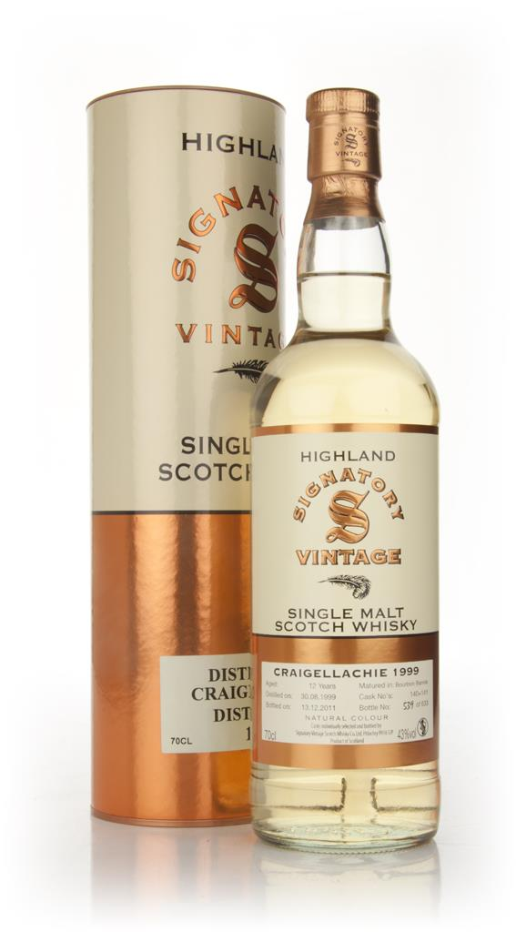 Craigellachie 12 Year Old 1999 (Signatory) Single Malt Whisky