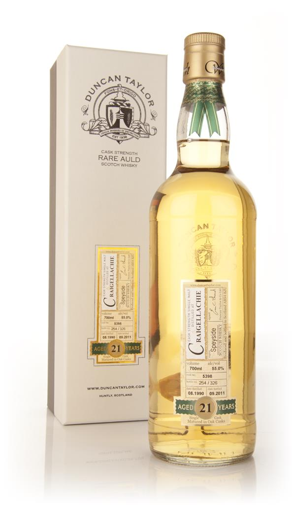 Craigellachie 21 Year Old 1990 - Rare Auld (Duncan Taylor) Single Malt Whisky