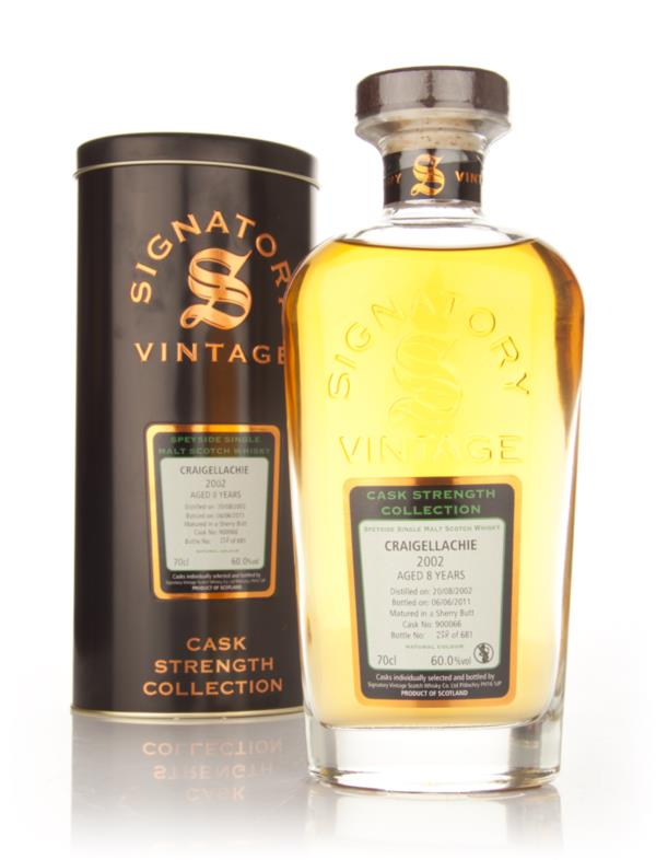 Craigellachie 8 Year Old 2002 Cask 900066 - Cask Strength Collection ( Single Malt Whisky