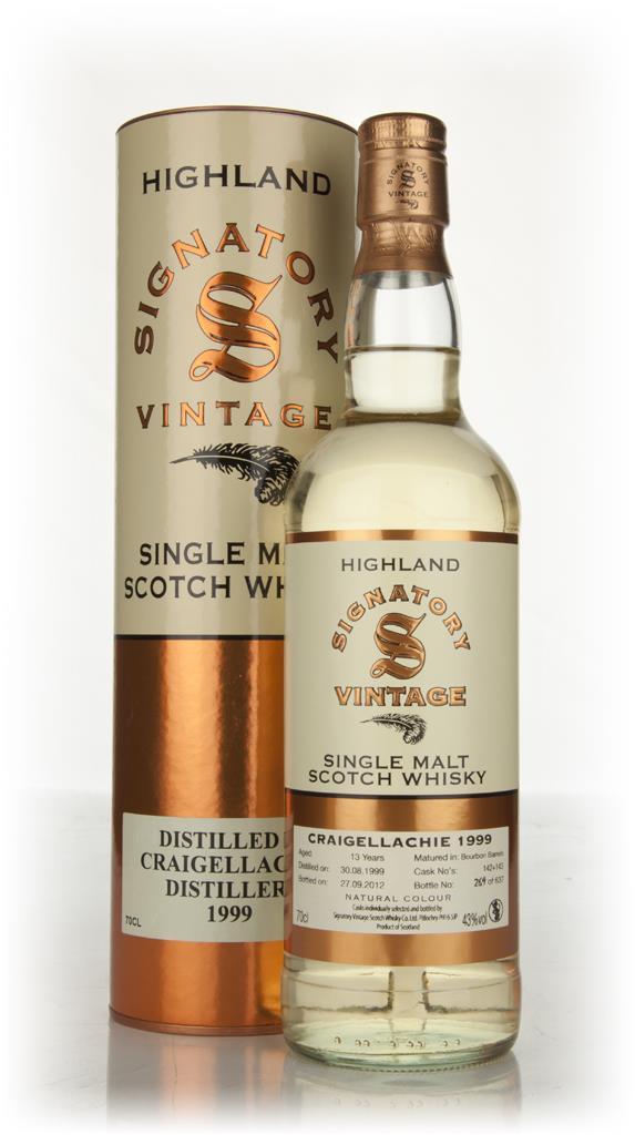 Craigellachie 13 Year Old 1999 (Signatory) Single Malt Whisky