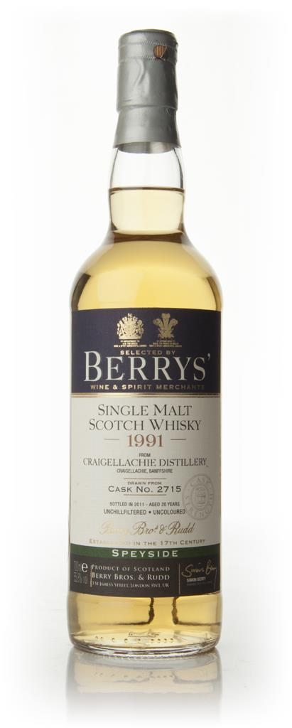 Craigellachie 20 Year Old 1991 - Berry Brothers and Rudd Single Malt Whisky