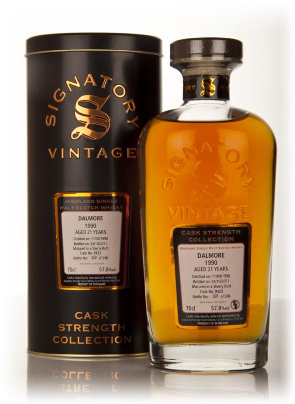 Dalmore 21 Year Old 1990 - Cask Strength Collection (Signatory) Single Malt Whisky