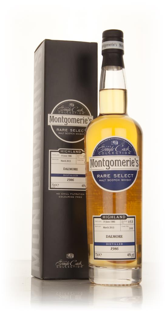 Dalmore 26 Year Old 1986 (cask 3101) - Rare Select (Montgomeries) Single Malt Whisky